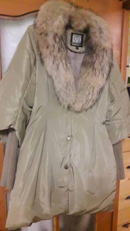 Куртка новая зимняя с натуральным мехом р 38-40