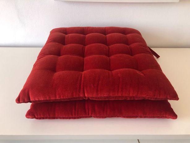 Almofadas para cadeira, vermelho