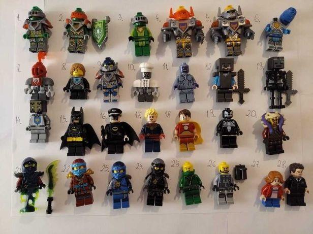 Lego Ninjago, Jurassic World figurki/minifigurki oraz akcesoria