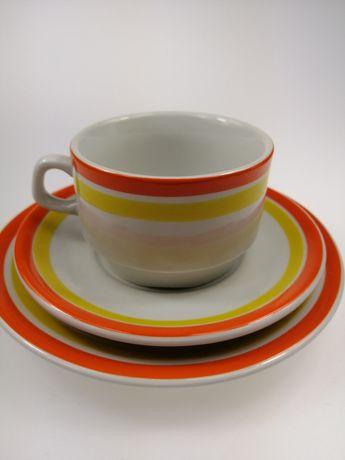 Prl porcelana filiżanka trio Lubiana