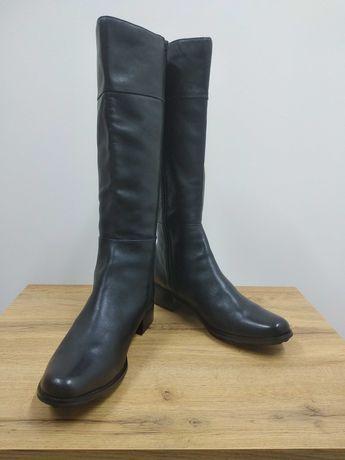 Laura conte чорні шкіряні високі демі чоботи черевики ботфорти 39.5 40