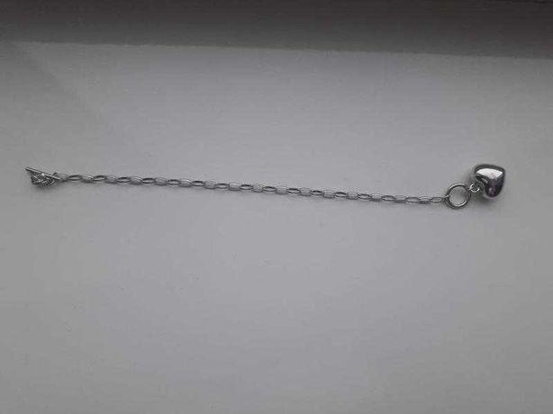 Браслет цепь цепочка с сердечком s925 браслет с подвеской