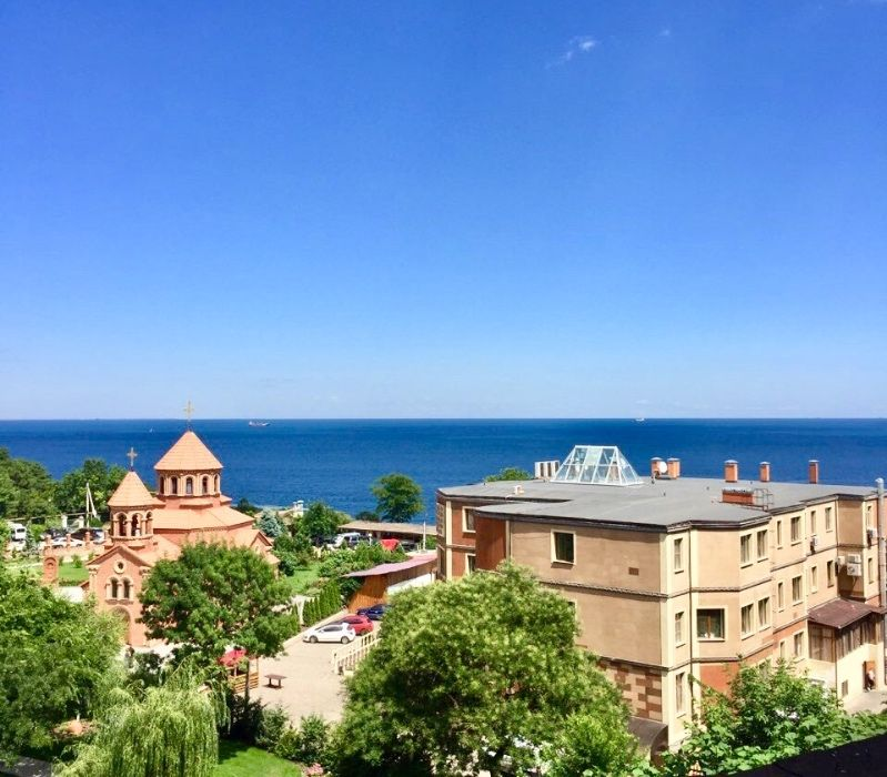 Эксклюзив!2 спальни,Аркадийский дворец,джакузи,вид на море,балкон,своя-1