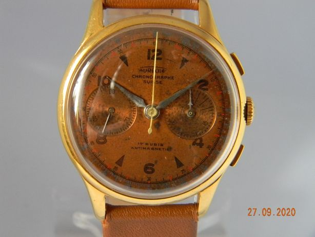 Chronograf Aureol pozłacany