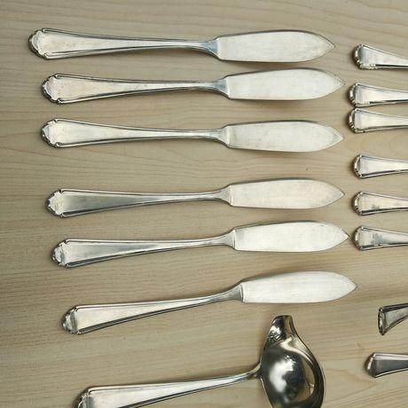 Серебряный Набор для рыбы Серебро 800 пробы 798 грамм столовое серебро