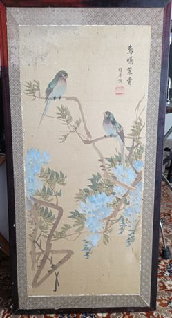 Pintura chinesa antiga para restauro Portes Incluídos