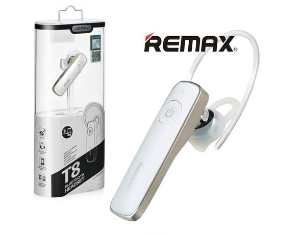 Remax RB-T8 беспроводная белая гарнитура блютуз наушники с заушиной