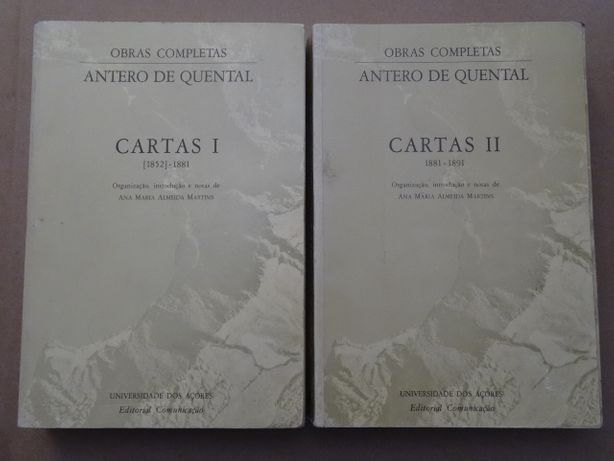 Cartas de Antero de Quental - 2 Volumes