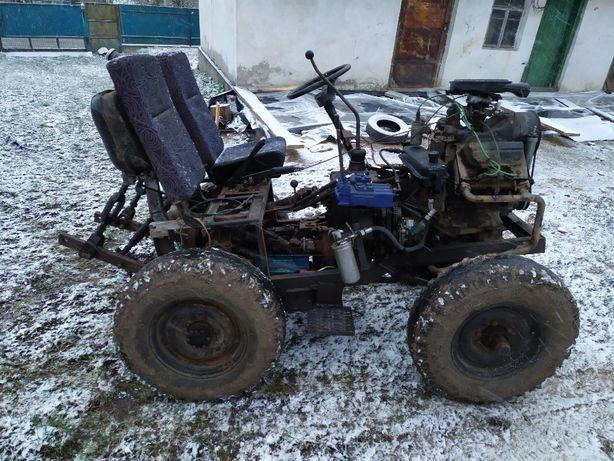 Самодельный,саморобный трактор