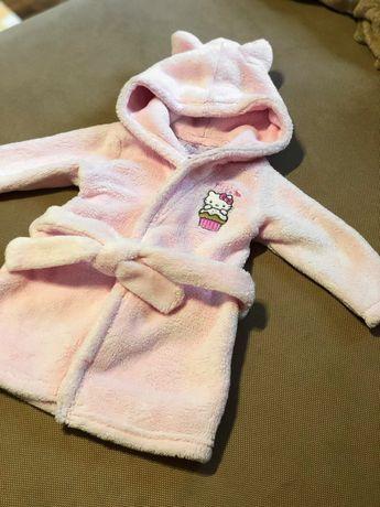 Теплий халат, банний халат для дівчинки Hello Kitty