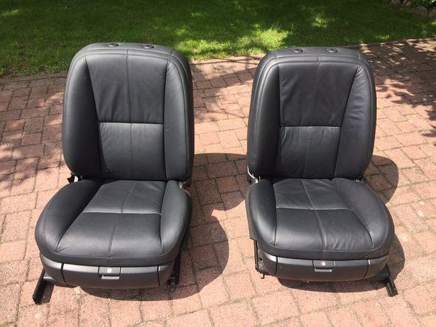 Fotele Przednie Mercedes S klasa w221 Europa czarne idealne.