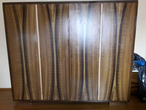 komplet szafa czterodrzwiowa vintage szafki nocne zagłówek/wezgłowie