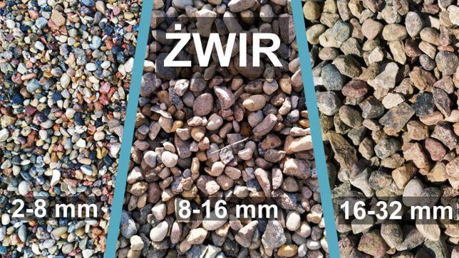 Żwir płukany kamień drenażowy ozdobny dekoracyjny do betonu