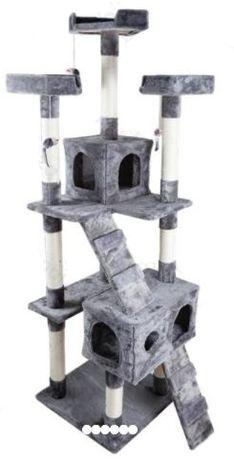 OFERTA de envio!!! Arranhador para gato Lisboa Cinza 59 x 59 x 181 cm