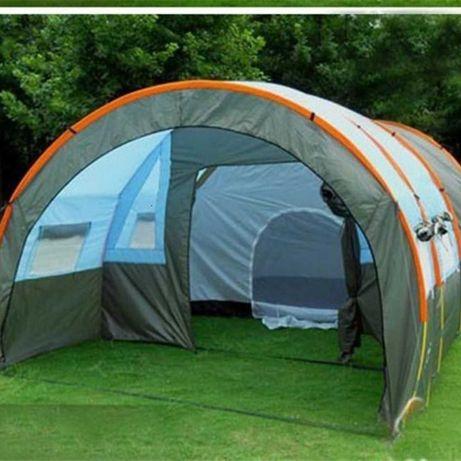 Палатка для кемпинга большая 4 местная с тамбуром 3 комнаты