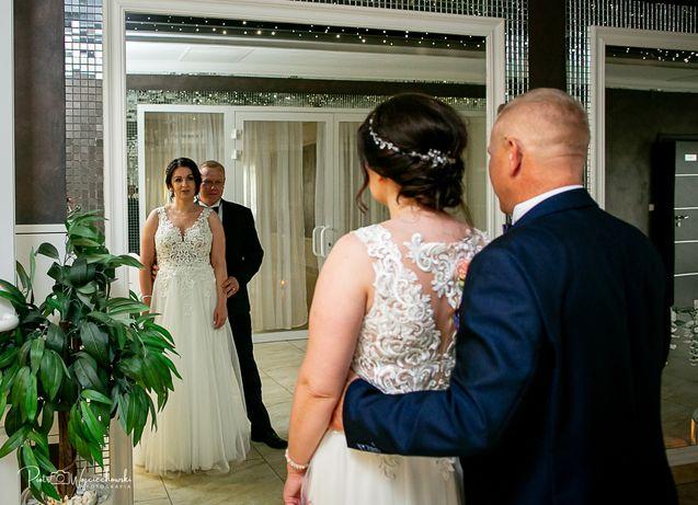 Suknia ślubna ekru rozm.40-42