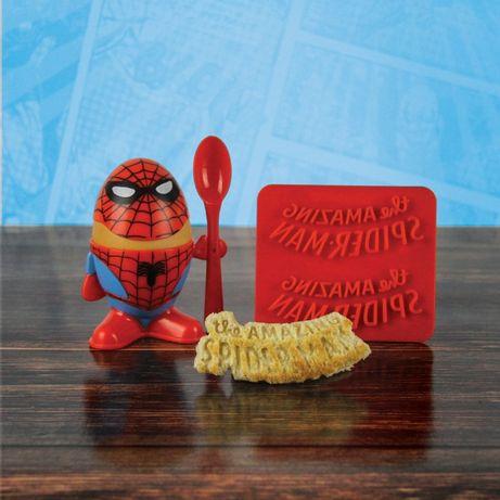 Kieliszek na jajko i wykrawacz do tostów Spiderman