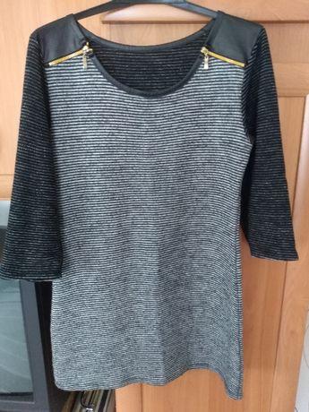 Sukienka/tunika sweterkowa S w paski