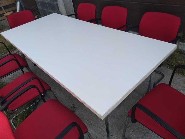 Stół konferencyjny biały 200x90 solidny okazja