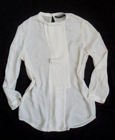 bluzka prosta elegancka ecru zara XS