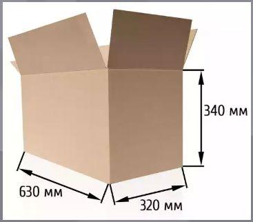 Картонная коробка б/у, ящик, гофрокоробка, гофроящик Д62хШ32хВ34