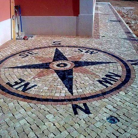 Fazemos calçada portuguesa  com ou sem desenhos