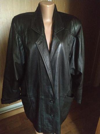 Класснейшая куртка натуральная кожа, большой размер