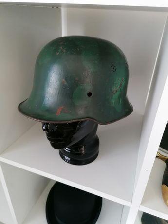 Hełm niemiecki policyjny II wojna nie bagnet