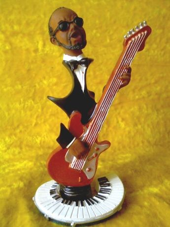 Негр-гитарист,фигурка,статуэтка,сувенир,подарок музыканту