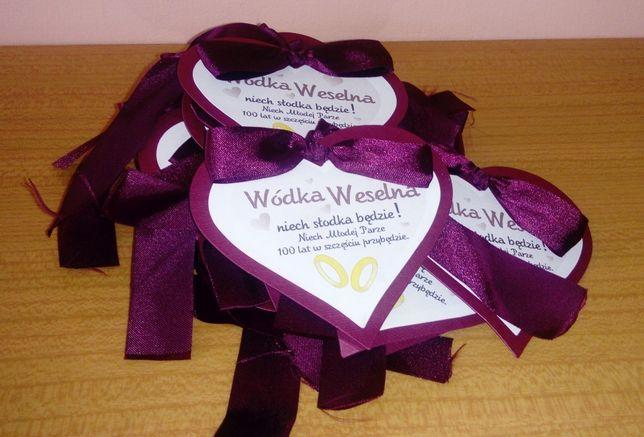 etykiety na wódkę weselną - podziękowanie dla gości
