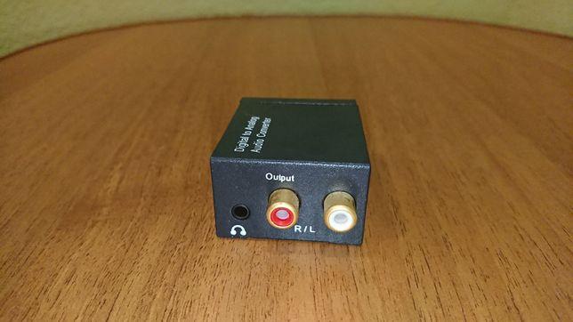 Конвертер цифровой оптический spdif звук в аналог декодер +3.5mm JACK