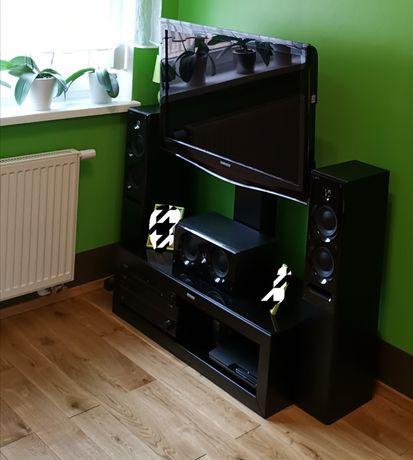 Nowoczesna półka na sprzęt rtv - wiszący telewizor.Super pomysł!Okazja