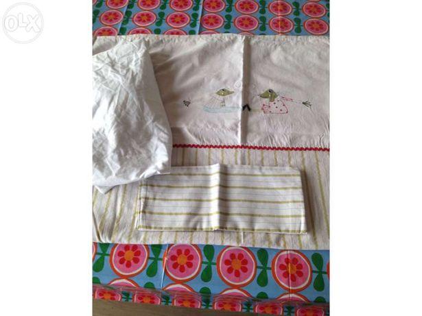 Capa de endredão e lençol Roupa de cama de grades