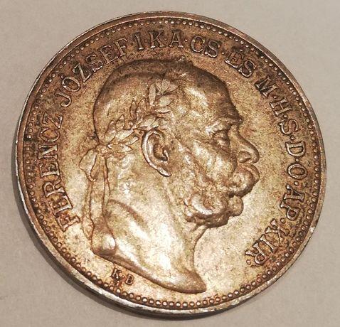 Węgry 2 KORONA 1912 Franciszek Józef I srebro .835 2 korony węgierskie