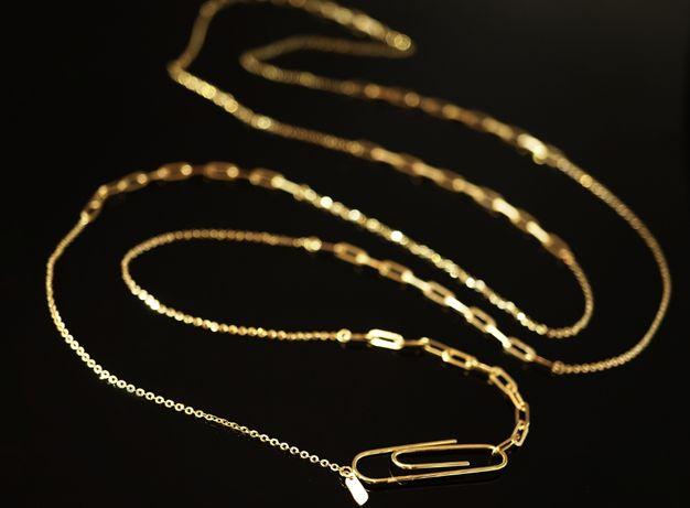 Złoto 585 - złoty łańcuszek SPINACZ 100 cm