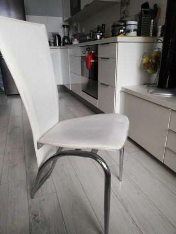 Krzesła kuchenne chrom 4 szt.
