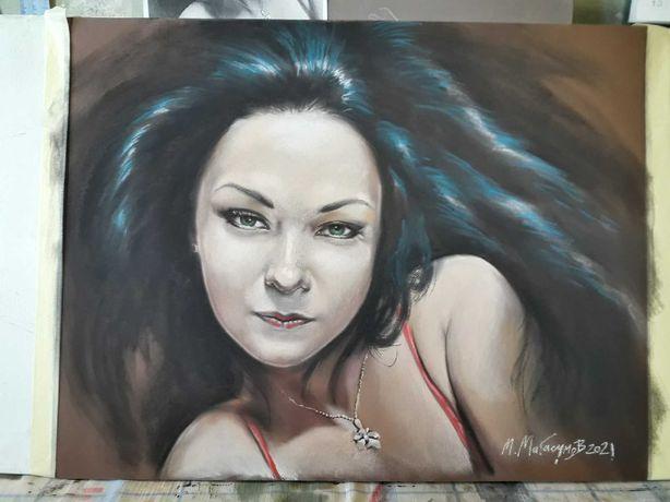 Портрет пастелью под заказ - готовый подарочный набор. Донецк, Луганск