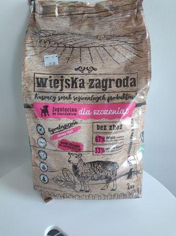 Sucha karma Wiejska Zagroda junior 2kg jagnięcina ze szpinakiem