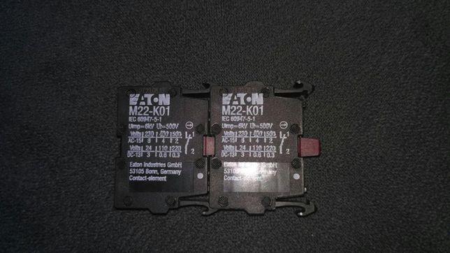 2 sztuki! Styk pomocniczy przycisku NC Eaton M22-K01