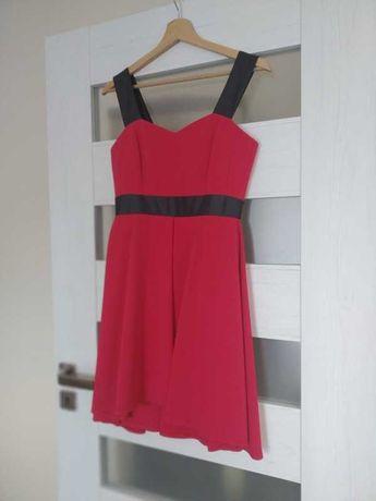 Sukienka wesele rozmiar 34 XS malinowa czerwona różowa