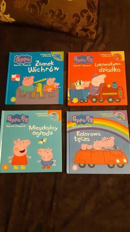 4 Książki Peppa z DVD
