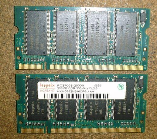 Оперативная память для ноутбука SO-DIMM DDR1 256 мБ