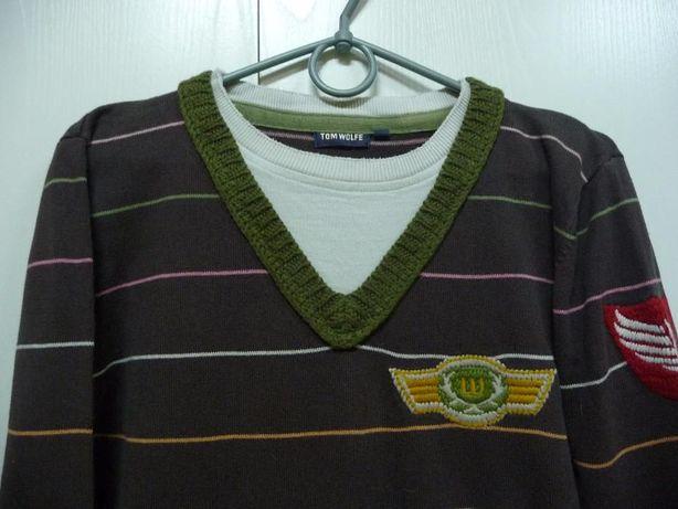 Интересный и стильный свитер tom wolfe на подростка.