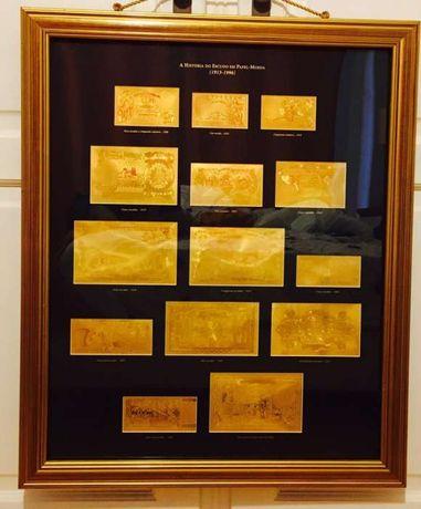 História do Escudo banhado a ouro