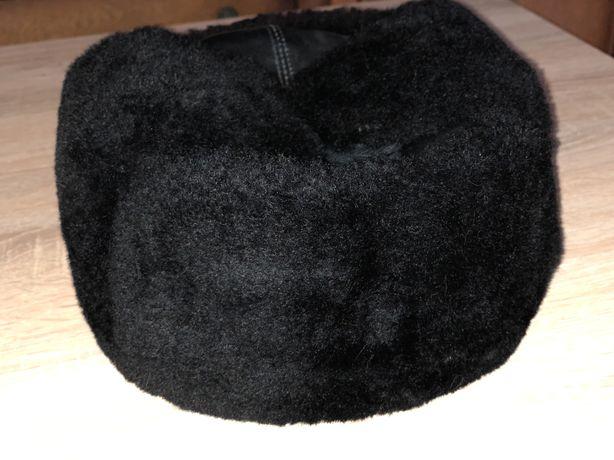 Шапка-ушанка (кожа)