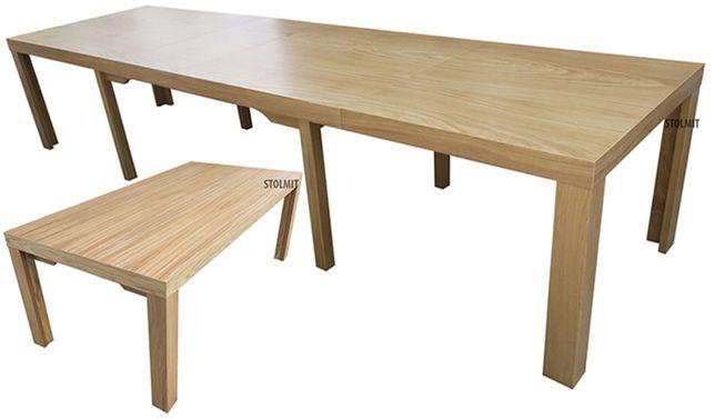 Debowy stół rozkłądany do duzych wymiarów 8 nóg stabilny