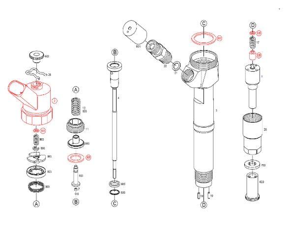 Ремонт и диагностика топливных систем Common Rail. Ремонт форсунок.
