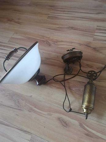 Mosiężna regulowana lampa nad stół