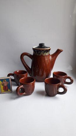 Заварочный чайник и 4 чашки набор СССР
