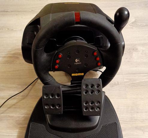Игровой руль и педали для ПК Logitech Momо Racing